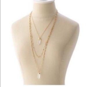 Stella & Dot Jewelry - Stella and Dot Gold Quartz Layering Necklace